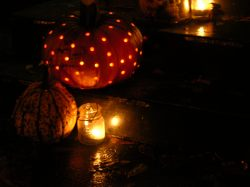 Pumpkin and Mason Jar Lanterns