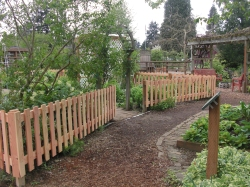 New fence around the perennial garden