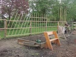 Vertical veggie garden & bench