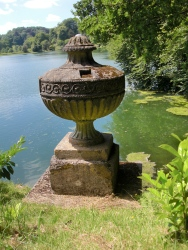 Urn outside Temple of Flora