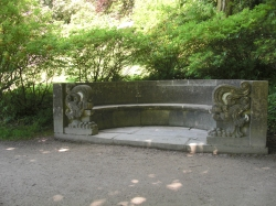 Beautiful stone bench